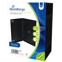 DVD Case MediaRange Single black, 5 Stück