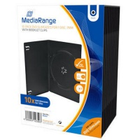 DVD Case MediaRange Single black, Slim 10 Stück