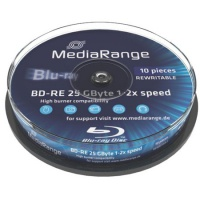 Blu-ray RW-Disc, MediaRange, 2x, 25GB, Cakebox10