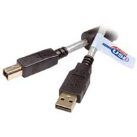 IT USB-Kabel 2.0, A/B, m/m, 1.8m Gold