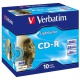 CD-R Verbatim, 700MB 52x, Jewel Case 10 Stk. bedruckbar
