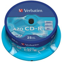 CD-R Verbatim, 700MB 52x, Cakebox25 bedruckbar