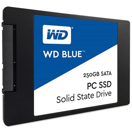 SSD 2.5 Zoll, SATA3, 250GB, Western Digital Blue