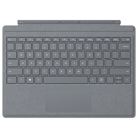 Microsoft Surface Signature Type Cover, Platingrau, CH-Layout, zu Pro 6