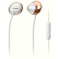 Headset Philips In-Ear SHE4205WT, weiss/gold