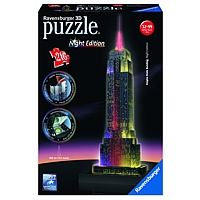 3D Gebäude Puzzle: Empire State Building - Night Edition