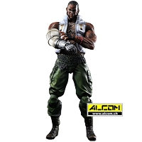 Figur: Final Fantasy 7 - Advent Children - Barret (28 cm) - Play Arts Kai