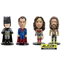 Wackelkopf-Set: Batman vs Superman, 4 Figuren (ca. 7 cm)