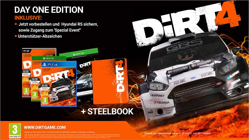 DIRT 4 - Day One Edition Steelbook (PC-Spiel)