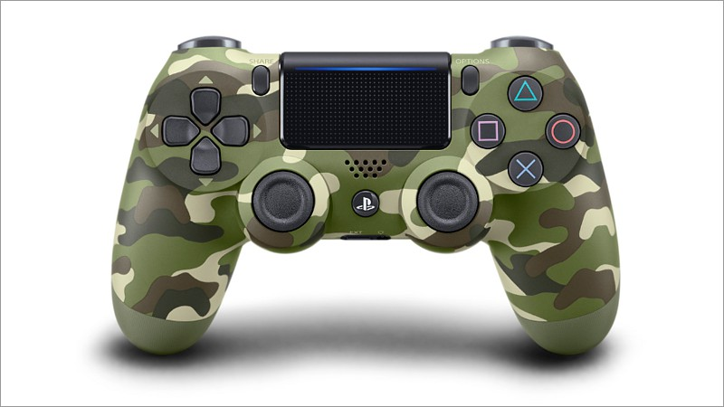 Controller Dual Shock 4, green camouflage V2 (Playstation 4)