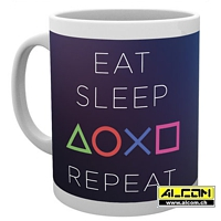 Tasse: Sony Playstation - Eat Sleep Repeat