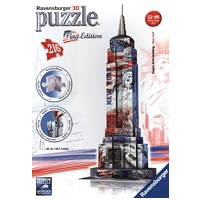 3D Gebäude Puzzle: Empire State Building - Flag Edition