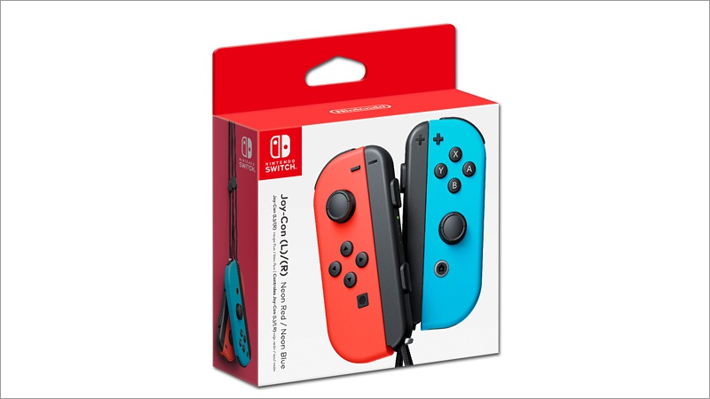 Controller Switch Joy-Con, 2er Set Rot/Blau (Switch)