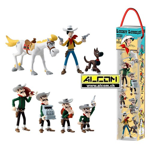 Figurenset: Lucky Luke, 7er-Set