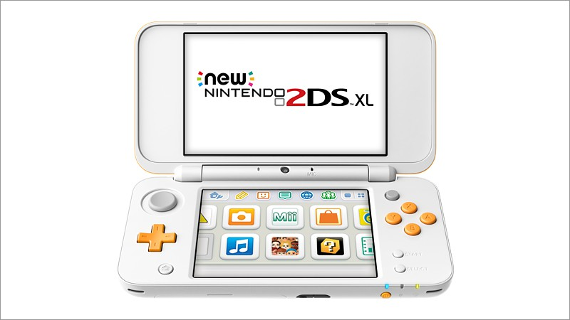 New Nintendo 2DS XL (weiss + orange) (Nintendo 3DS)