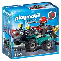PLAYMOBIL City Action: Ganoven-Quad mit Seilwinde (6879)