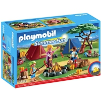 PLAYMOBIL Summer Fun: Zeltlager mit LED-Lagerfeuer (6888)