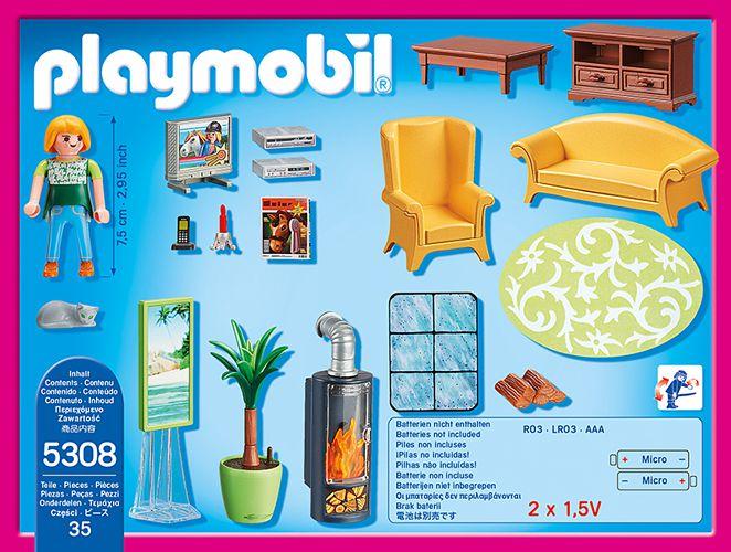 Playmobil Dollhouse Schlafzimmer | Playmobil Dollhouse Wohnzimmer Mit Kaminofen 5308 Spielwaren