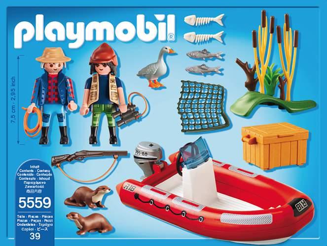 playmobil wild life schlauchboot mit wilderern 5559 spielwaren. Black Bedroom Furniture Sets. Home Design Ideas