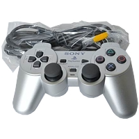 Controller Dualshock 2, silber, Playstation 2, lose
