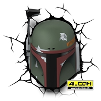3D LED-Leuchte: Star Wars - Boba Fett
