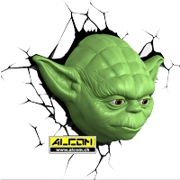 3D LED-Leuchte: Star Wars - Yoda
