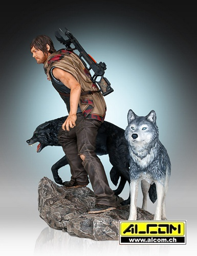 Figur: The Walking Dead - Daryl & the Wolves - Sammler Version (26 cm)