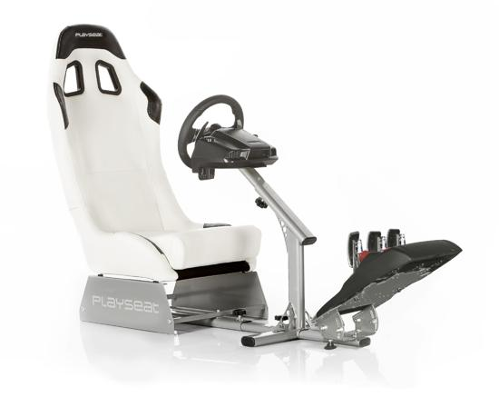 Lenkradsitz Evolution White Seat - Leder Look/vinyl (Playseat) (Playstation 3)
