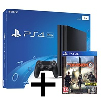 Sony Playstation 4 Pro (1 TB), schwarz + The Division 2 (Playstation 4)