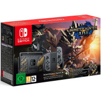 Nintendo Switch V2: Monster Hunter Rise Edition Grau (Switch)