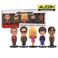Wackelkopf-Set: The Big Bang Theory, 5 Figuren (ca. 8 cm)