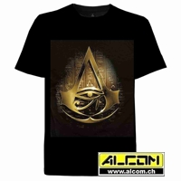 T-Shirt: Assassins Creed Origins - Gold Hieroglyphs