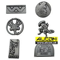 Ansteck-Buttons: Alien Limited Edition - 6er Pack