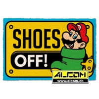 Fussmatte: Super Mario Shoes Off color (40 x 60 cm)