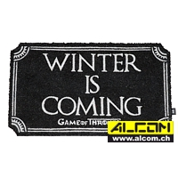 Fussmatte: Game of Thrones - Winter Is Coming (43 x 72 cm)
