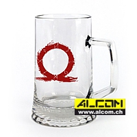 Bierkrug: God of War - Serpent Logo (0.45 Liter)