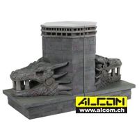 Buchstützen: Game of Thrones - Dragonstone Gate Dragon, 2-er Pack (20 cm)