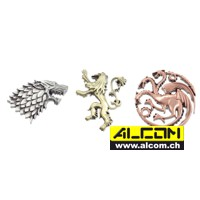 Ansteck-Pins: Game of Thrones 3er-Pack