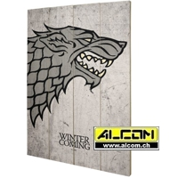 Holzdruck: Game of Thrones - Stark (40 x 60 cm, ca. 1,4 Kg)