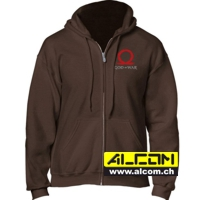 Kapuzen-Jacke: God of War - braun mit Serpent Logo