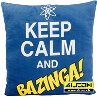 Kissen: The Big Bang Theory - Keep Calm and Bazinga (40 x 40 cm)
