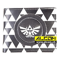 Geldbeutel: The Legend of Zelda - Triforce Black & White
