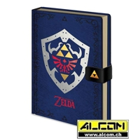 Notizbuch: The Legend of Zelda - Hylian Shield (Format A5)