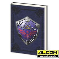 Notizbuch: The Legend of Zelda - Metal Shield (Format A5)