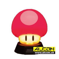 Lampe: Super Mario - Power-Up Pilz (10 cm)