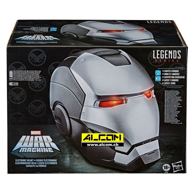 Helm: Marvel Legends War Machine, elektronisch, Format 1:1