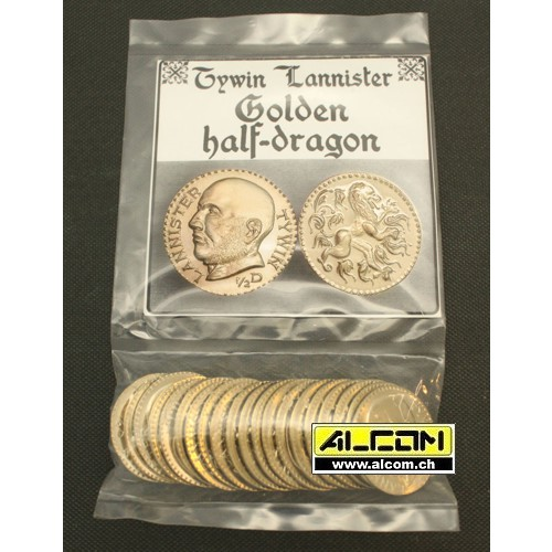 Münzen-Set: Lannister Golden Half-Dragons (Metall)