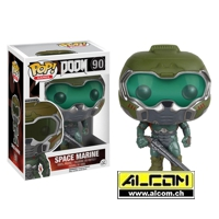 Figur: Funko POP! Doom - Space Marine (9 cm)