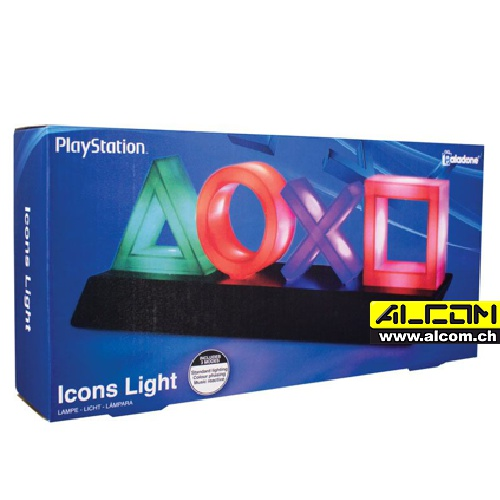 Lampe: Playstation Icons (30x10 cm, USB oder Batterie-Betrieb)