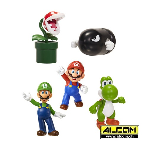Figurenset: Super Mario World, 5 Figuren (6 cm)